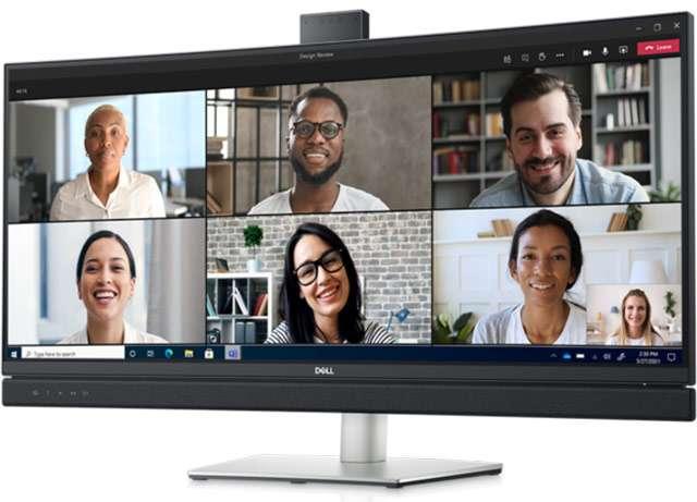 Lo schermo ultrawide Dell 34 Curved Video Conferencing Monitor