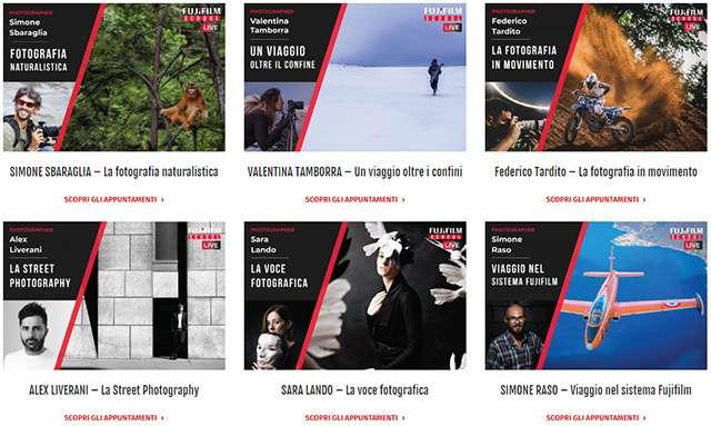 I corsi proposti dalla Fujifilm School