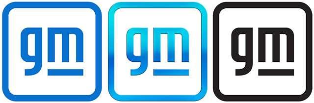 Il nuovo logo di General Motors in tre versioni differenti