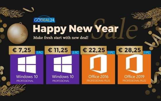 Solo 5€ per Windows 10, gratis con Office: sconti GoDeal24