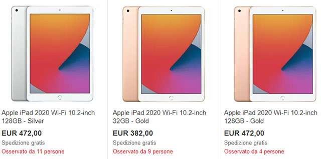 Gli iPad acquistabili con lo sconto del 10% su eBay
