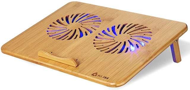 KLIM Bamboo, il supporto per laptop con ventole integrate realizzato in bambù