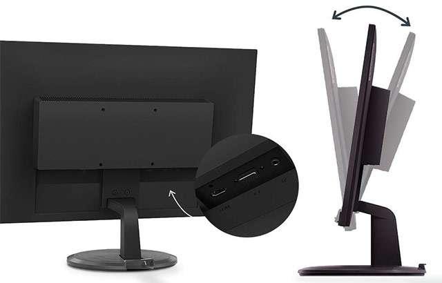 Il monitor Lenovo D24-20 da 23,8 pollici con risoluzione Full HD
