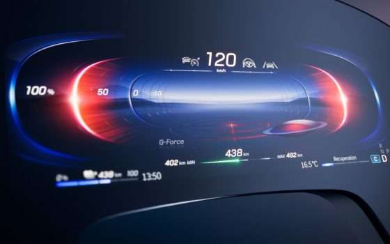MBUX Hyperscreen per l'infotainment di Mercedes