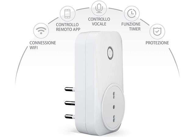 La presa smart di Meross compatibile con Alexa, Assistente Google e Apple HomeKit