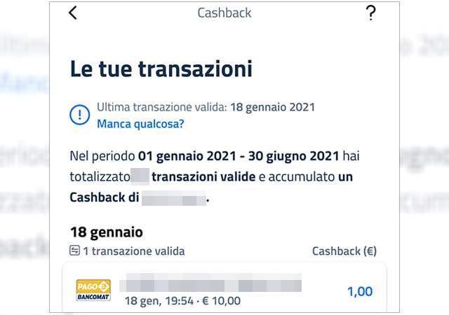 Le transazioni PagoBANCOMAT conteggiate correttamente su IO