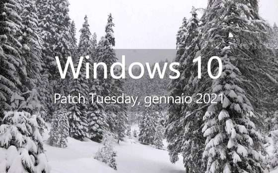 Windows 10, il primo Patch Tuesday del 2021