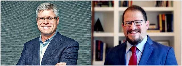 Steve Mollenkopf e il suo successore Cristiano Amon, nuovo CEO di Qualcomm