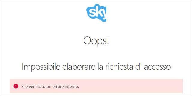 Skype: problemi in fase di login