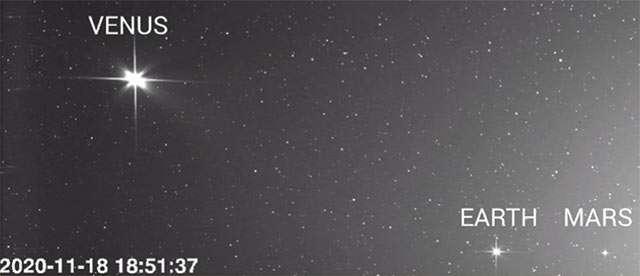 La Terra, Venere e Marte osservati da Solar Orbiter