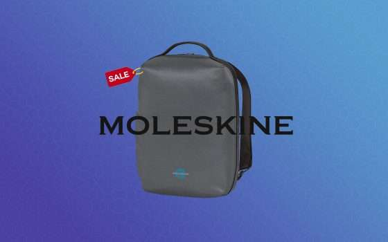 Zaino per PC MOLESKINE impermeabile in super offerta