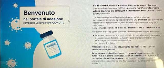 Campagna di vaccinazione anti-COVID-19 per ultraottantenni