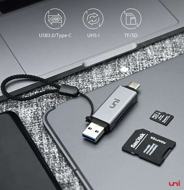 Lettore di Schede UNI USB to USB-C - 1