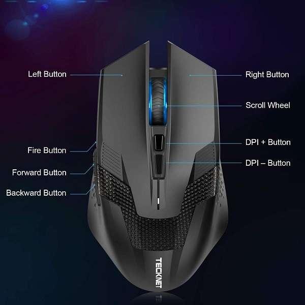 Mouse Gaming Tecknet Raptor - 1