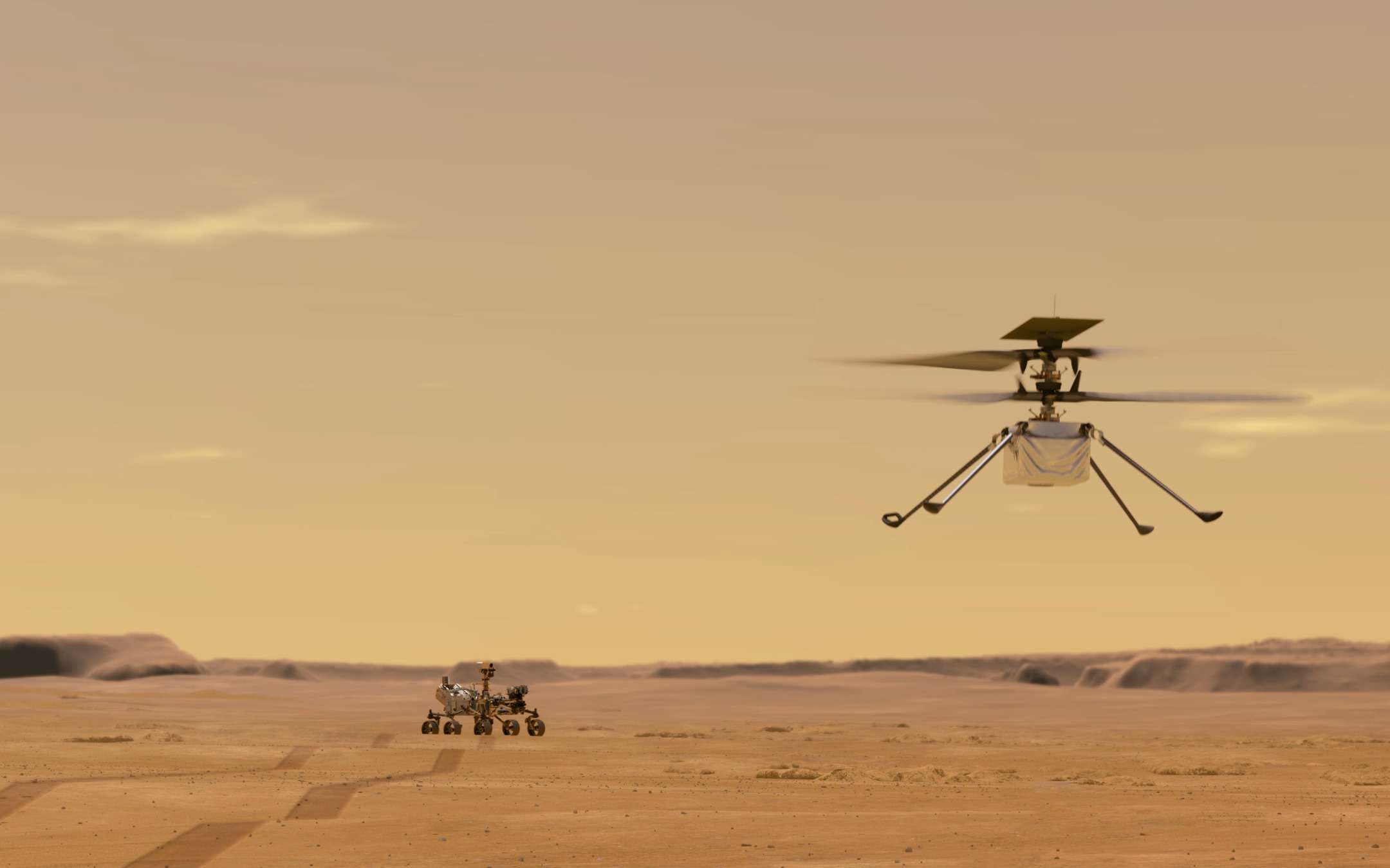 Ingenuity, the helicopter that will fly to Mars