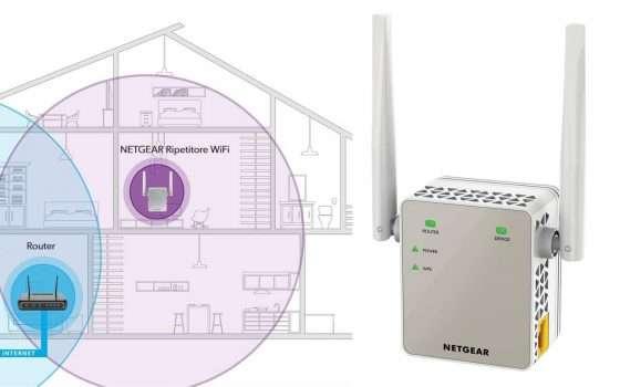 Ripetitore Wi-Fi dual band Netgear 3 in 1 in sconto