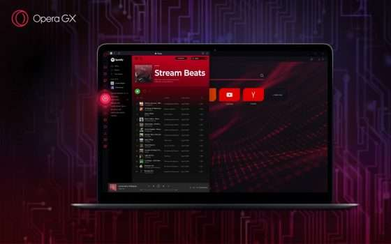 Opera GX integra un player musicale per Spotify