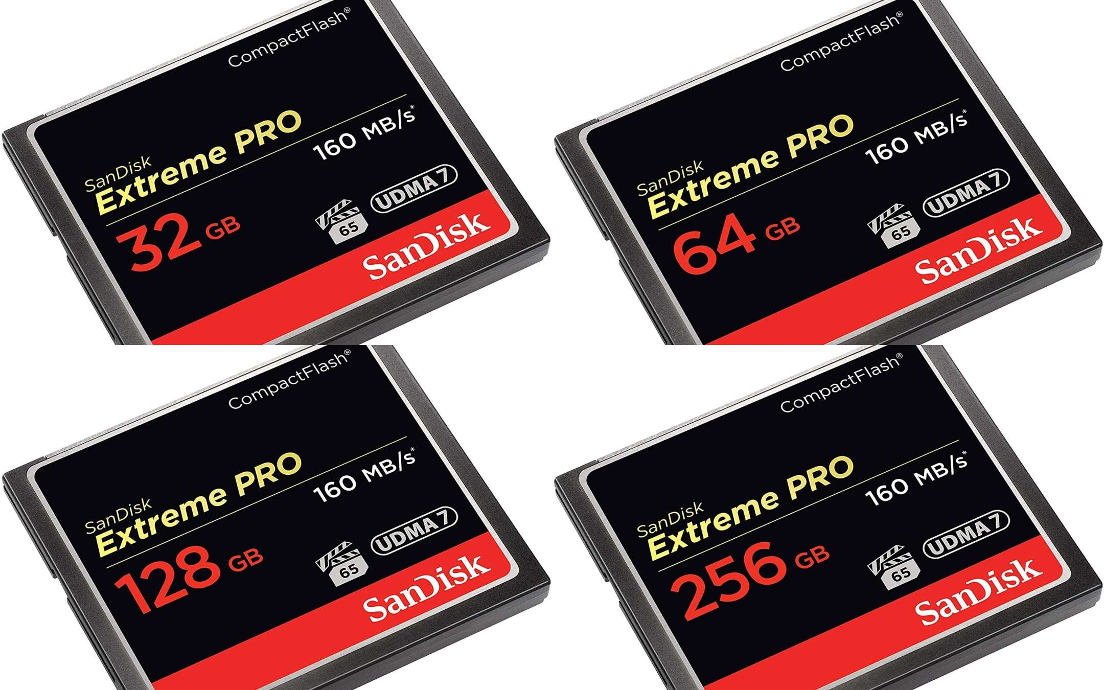 SanDisk Extreme Pro CompactFlash: 4 memory cuts, 4 TOP offers