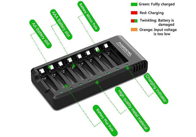 Caricatore per batterie AA