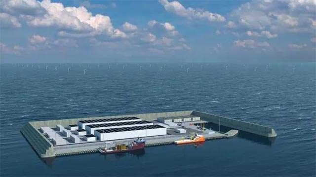 L'isola artificiale danese per la produzione di energia pulita