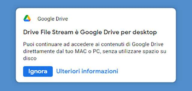 Il client Drive File Stream diventa Google Drive for Desktop