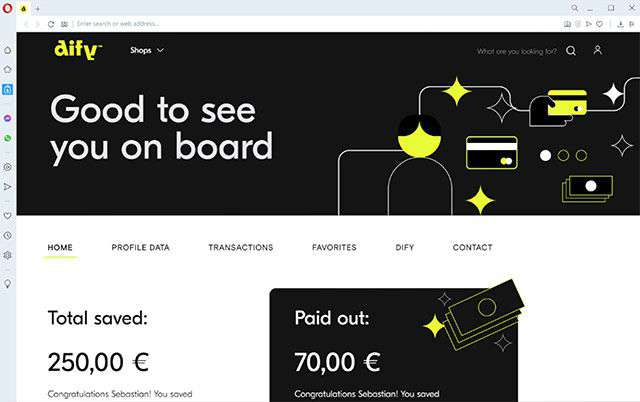 Dify è la Fintech di Opera che porta nel browser il cashback sugli acquisti