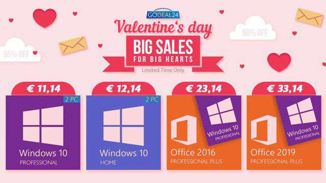 GoDeal24, offerte di San Valentino