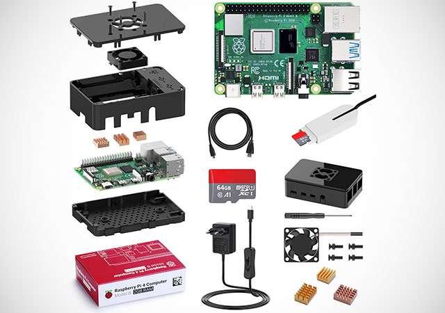 Il kit di Bqeel con Raspberry Pi 4 e accessori