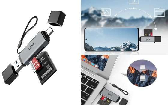 Lettore di schede 4 in 1 USB to USB-C in offerta