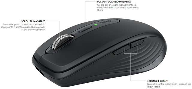 Il mouse Logitech MX Anywhere 3