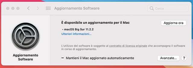 MacOS Big Sur: disponibile l'aggiornamento 11.2.2