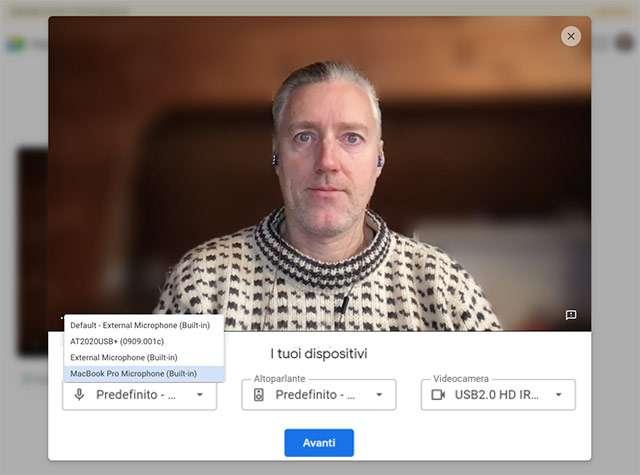 Google Meet: la verifica di audio e video prima di unirsi a una riunione