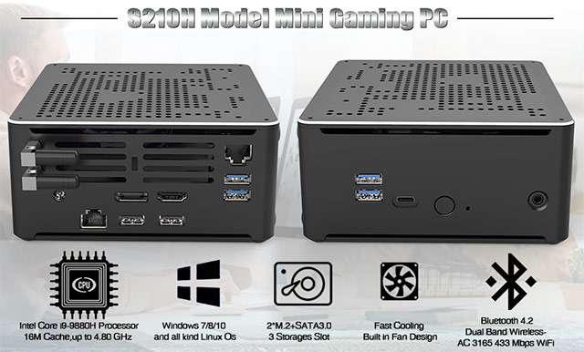 Il Mini PC con processore Intel Core i9-9880H