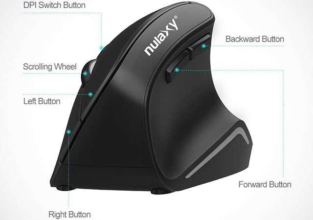 Il mouse verticale di Nulaxy