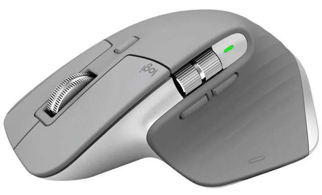 Il mouse Logitech MX Master 3 nella colorazione Grigio