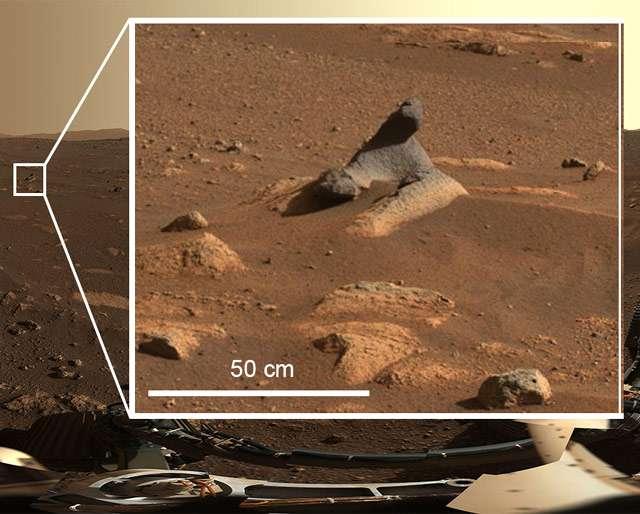 Il panorama di Marte catturato dal rover Perseverance (dettaglio)