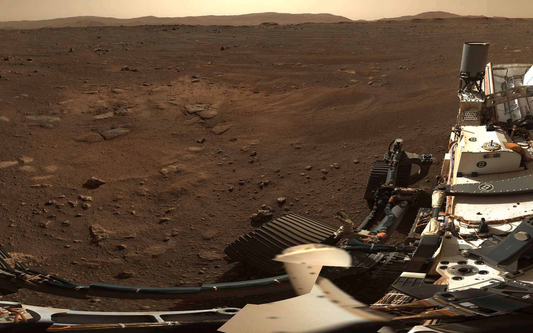 Perseverance shows us the panorama of Mars