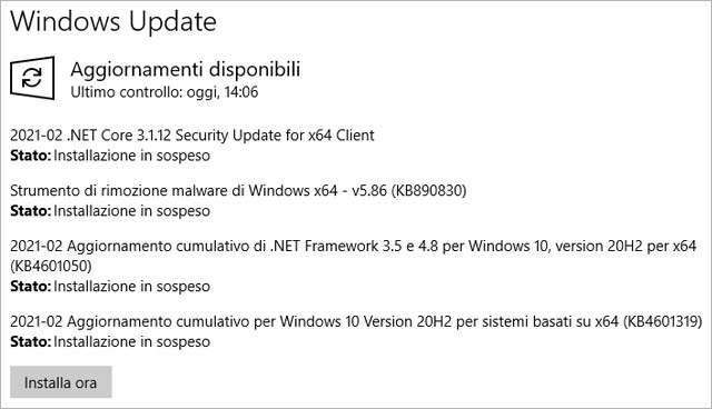 Windows 10: il Patch Tuesday di febbraio