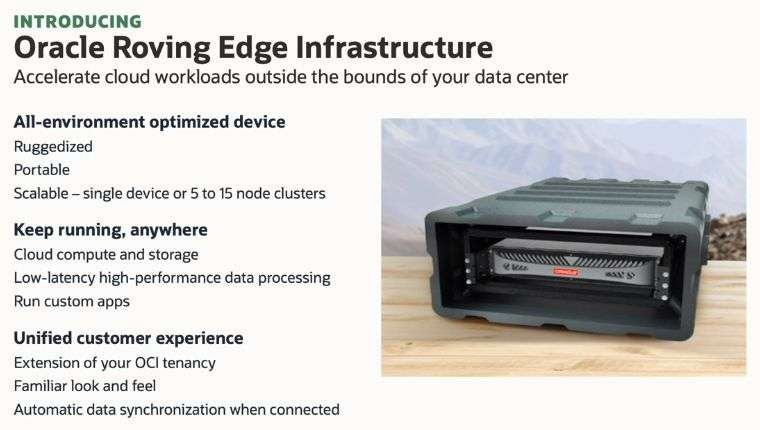 Oracle Roving Edge Infrastructure: caratteristiche