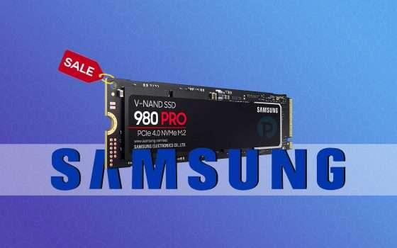 Samsung 980 Pro: SSD NVMe da 1TB in super offerta (-17%)