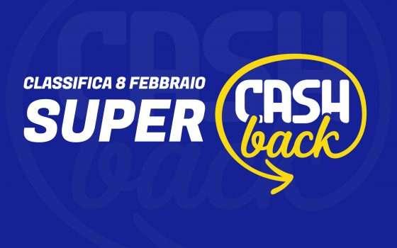 Super Cashback: classifica transazioni, 8 febbraio