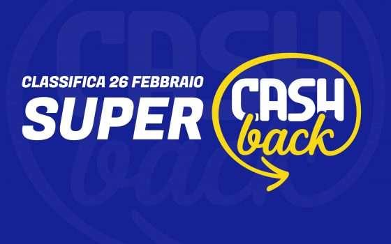 Super Cashback: classifica transazioni, 26 febbraio