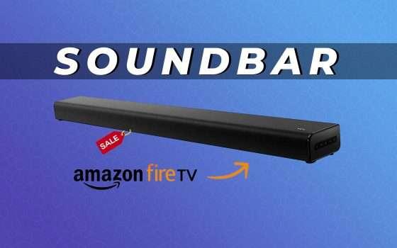 Soundbar TCL con FireTV Stick integrata al 53% di sconto
