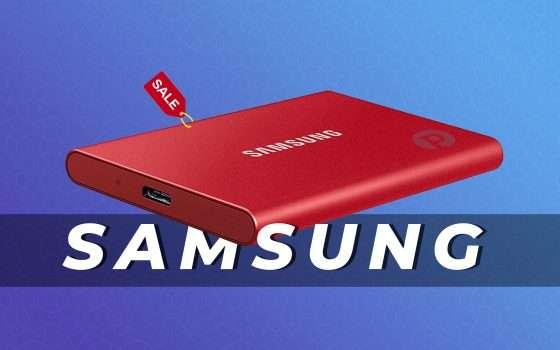 SSD Esterno Samsung T7 da 500GB in offerta oggi