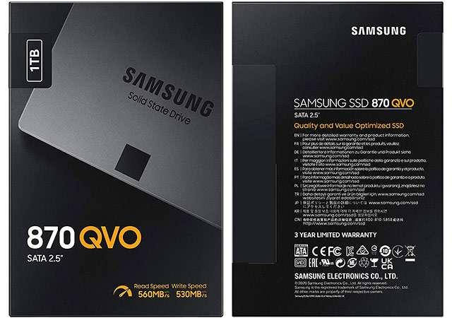 La SSD da 1 TB della serie Samsung 870 QVO