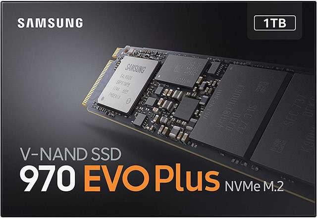 La SSD di Samsung della serie 970 EVO Plus da 1 TB