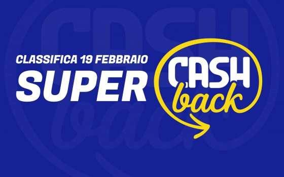 Super Cashback: classifica transazioni, 19 febbraio