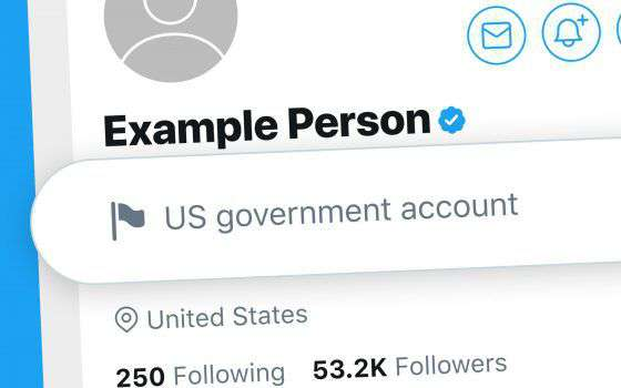 Twitter etichetta gli account governativi in Italia