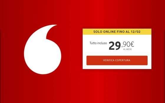 Vodafone, PROMO banda ultralarga: buono spesa da 100€