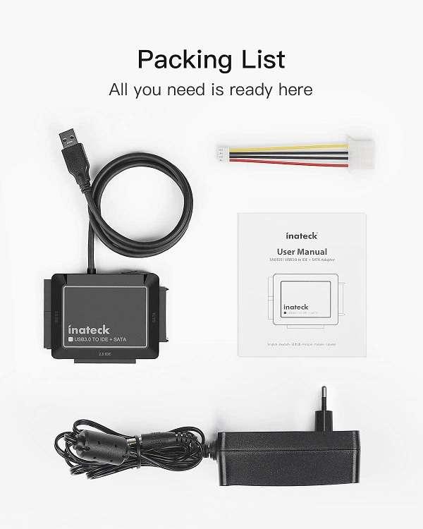 Lettore di dischi SATA/IDE Inateck USB 3.0 - 1
